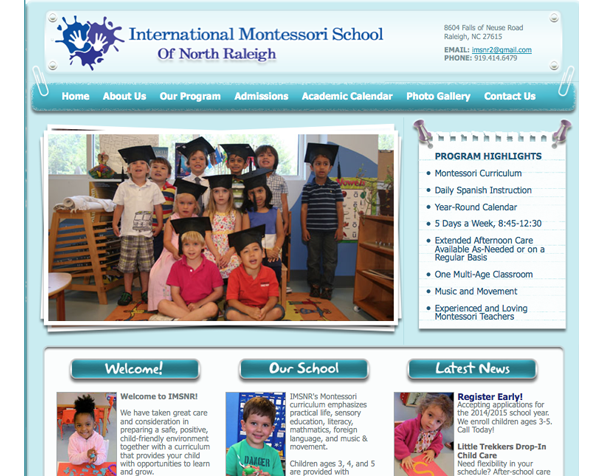 Montesorri Preschool Website