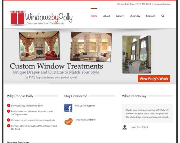 Custom Window Treatments Website